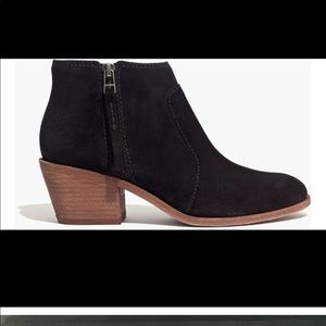 Madewell Janice suede booties boots